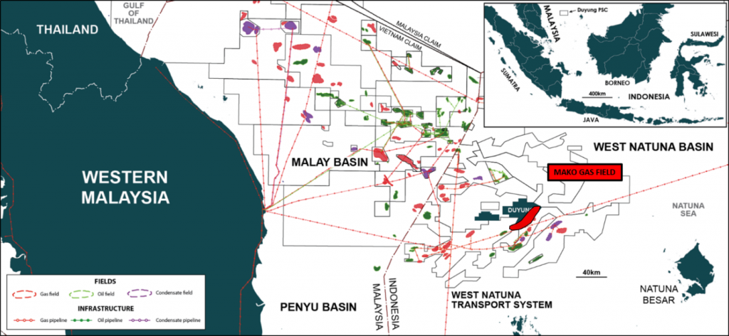 Mako Gas Field, Duyung PSC, Indonesia